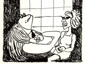"""-Vill fröken Louise se till att """"Små grodorna är lustiga att se""""…"""