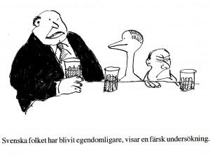 Svenska folket har blivit egendomligare, visar en färsk undersökning.