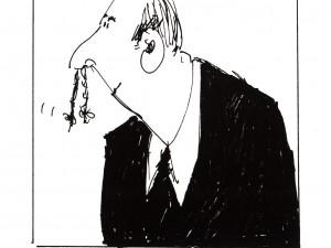Bertil hade upptäckt att man kunde göra riktigt söta flätor av näshåren.