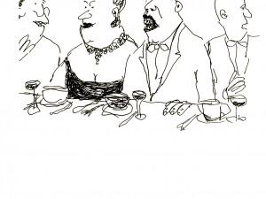 Var bordskavaljeren på väg att somna eller nysa? Vera började bli orolig.