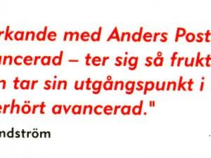"""""""Det som är utmärkande med Anders Posts humor…"""""""